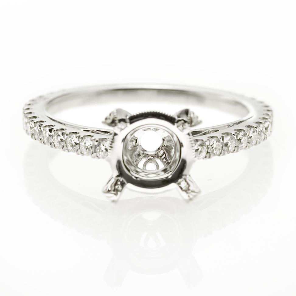 50ct Diamond Platinum Engagement Ring Setting