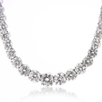 15.22ct Diamond 18k White Gold Graduated Riviera(Tennis) Necklace