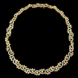 40.38ct Diamond 18k Two Tone Gold Necklace