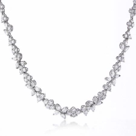 8.99ct Diamond 18k White Gold Graduated Necklace
