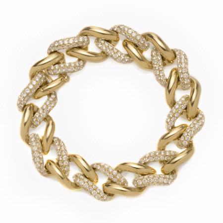 13.59ct Diamond 18k Yellow Gold Bracelet