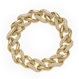 14.01ct Diamond 18k Yellow Gold Bracelet