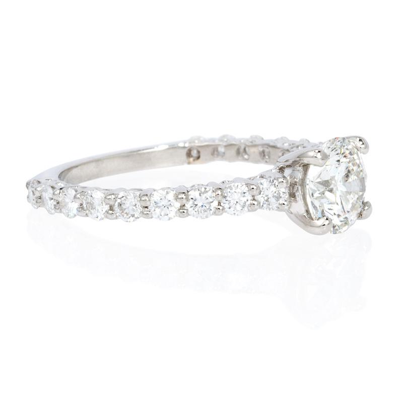 71ct Diamond Platinum Engagement Ring Setting