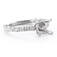 .68ct Diamond Platinum Engagement Ring Setting