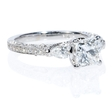 .56ct Diamond Antique Style 18k White Gold Engagement Ring Setting