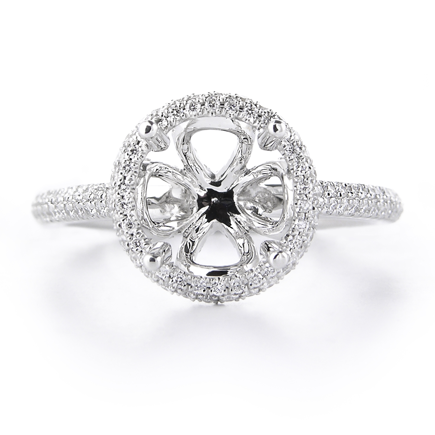 61ct diamond platinum halo engagement ring setting. Black Bedroom Furniture Sets. Home Design Ideas