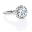 .61ct Diamond Platinum Halo Engagement Ring Setting