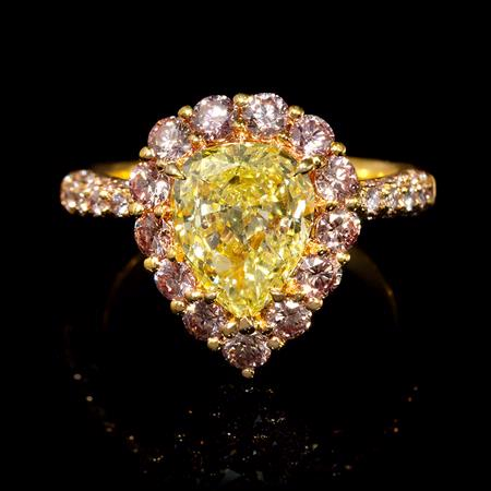 2.96ct Diamond 18k Rose Gold Ring