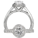 Ritani Endless Love Collection Diamond Platinum Engagement Ring Setting