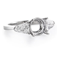 .91ct Diamond 18k White Gold Engagement Ring Setting
