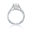 .45ct Diamond Antique Style 18k White Gold Engagement Ring Setting