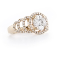 1.32ct Diamond 18k Rose Gold Mosaic Ring