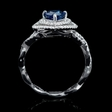 .38ct Diamond and Blue Sapphire 18k White Gold Ring