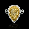 3.10ct GIA Certified Diamond 18k Two Tone Gold Engagement Ring