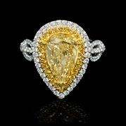 MK GIA Certified Diamond 18k Two Tone Gold Engagement Ring