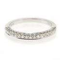 Natalie K Diamond Antique Style 18k White gold Wedding Band Ring