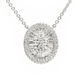 1.43ct Diamond 18k White Gold Pendant Necklace