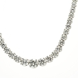 20.01ct Diamond 18k White Gold Graduated Tennis Necklace