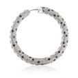 19.34ct Diamond 18k White Gold Hoop Earrings