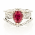1.07ct Simon G Diamond & Rubellite 18k Two Tone Gold Ring