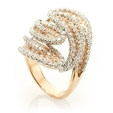 3.52ct Diamond 18k Two Tone Gold Ring