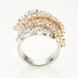 6.34ct Diamond 18k Two Tone Gold Ring