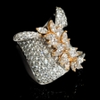 5.07ct Diamond 18k Two Tone Gold Ring