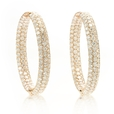 7.90ct Diamond 18k Rose Gold Hoop Earrings