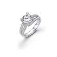 .80ct Simon G Diamond 18k White Gold Engagement Ring Setting