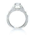 1.27ct Simon G Diamond Antique Style 18k White Gold Engagement Ring Setting
