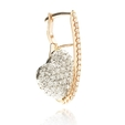 1.42ct Simon G Diamond 18k Two Tone Gold Heart Dangle Earrings