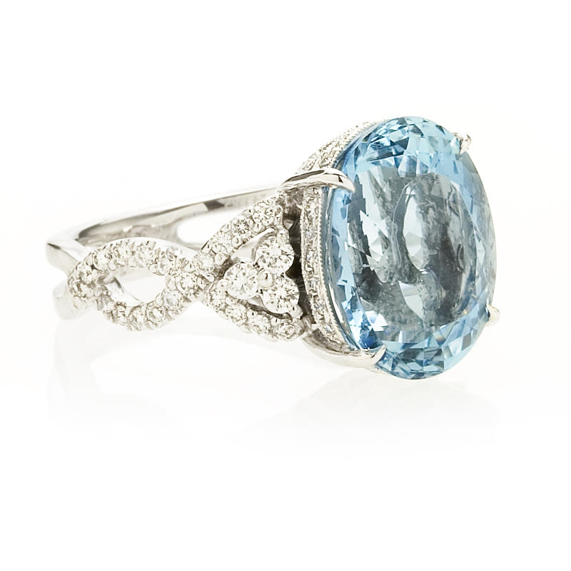 73ct simon g and aquamarine antique style 18k