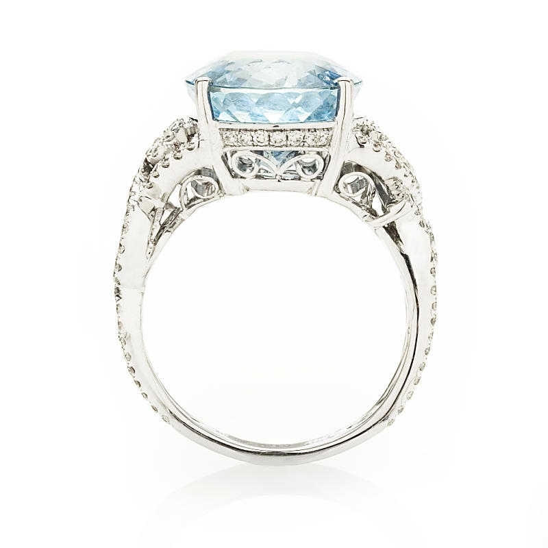 62ct simon g diamond and aquamarine 18k white gold ring