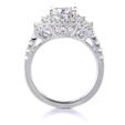 .71ct Diamond Platinum Halo Engagement Ring Setting
