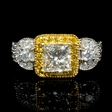 2.13ct Diamond Antique Style 18k Two Tone Gold Engagement Ring