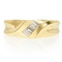 Men's Diamond 18k Yellow Gold Ring