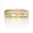 .67ct Men's Diamond 14k Yellow Gold Ring