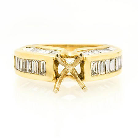 Diamond 14k Yellow Gold Engagement Ring Setting