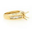 2.96ct Diamond 14k Yellow Gold Engagement Ring Setting