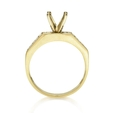 .58ct Diamond 14k Yellow Gold Engagement Ring Setting