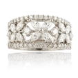 1.73ct Diamond 18k White Gold Wedding Band Ring