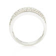 1.05ct Diamond 18k White Gold Wedding Band Ring