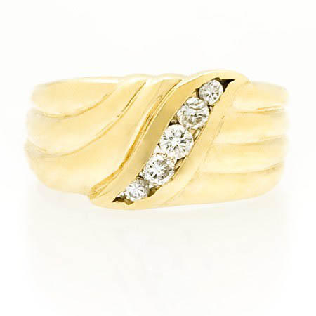 Diamond 14k Yellow Gold Ring