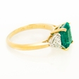 .77ct Diamond and Emerald Platinum and 18k Yellow Gold Ring