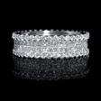 3.11ct Diamond 18k White Gold Eternity Wedding Band Ring