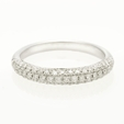 .54ct Diamond 18k White Gold Wedding Band Ring