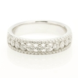 .64ct Diamond 18k White Gold Wedding Band Ring