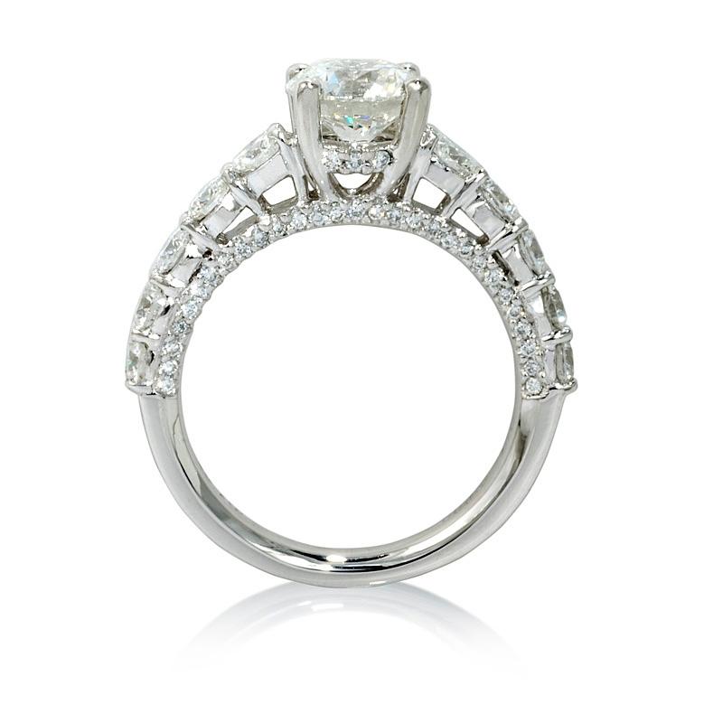 1 05ct Diamond Platinum Engagement Ring Setting