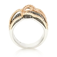 1.82ct Diamond 18k Two Tone Gold Ring