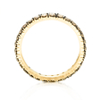 1.01ct Diamond 18k Yellow Gold & Black Rhodium Eternity Wedding Band Ring